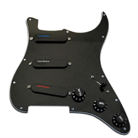 Loaded pickguard (Blue/Silver/Red) available in white or black.
