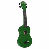 Entry-level soprano ukulele with bag.