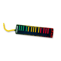Professional 37-key melodica in Jamaican colours, celebrating the historic influence of the melodica in reggae music.<br />Airtight construction, the sound is crisp and sweet, and the newly designed mouthpiece makes it incredibly comfortable to play. <br />Comes with a very fetching green carry-case.<br /><br /><br />